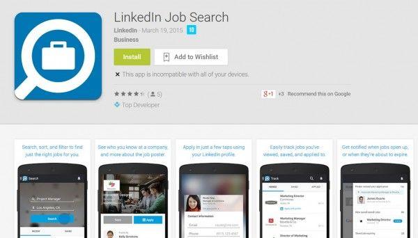 Linkedin lanza app android de búsqueda de empleo