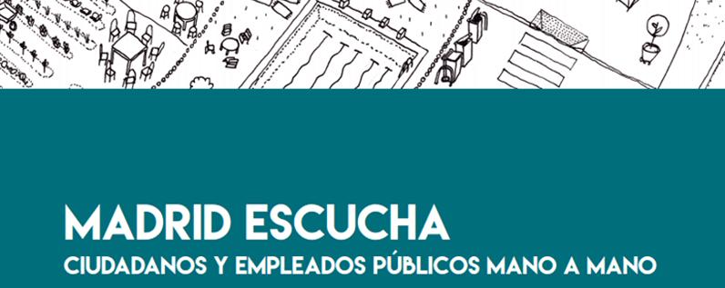 Convocatoria de taller colaborativo entre ciudadanos y empleados municipales en Madrid