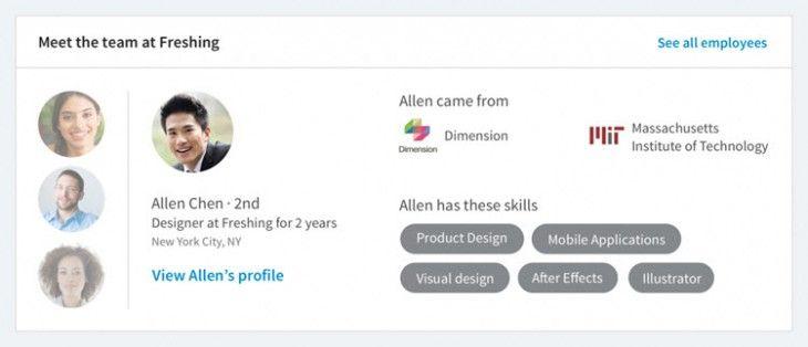 LinkedIn agrega más información relevante para nuestra búsqueda de empleo